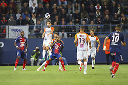 September 26, 2018 - Caen, France - Ruben Aguilar (Montpellier) vs Claudio Beauvue  (Credit Image: © Panoramic via ZUMA Press)