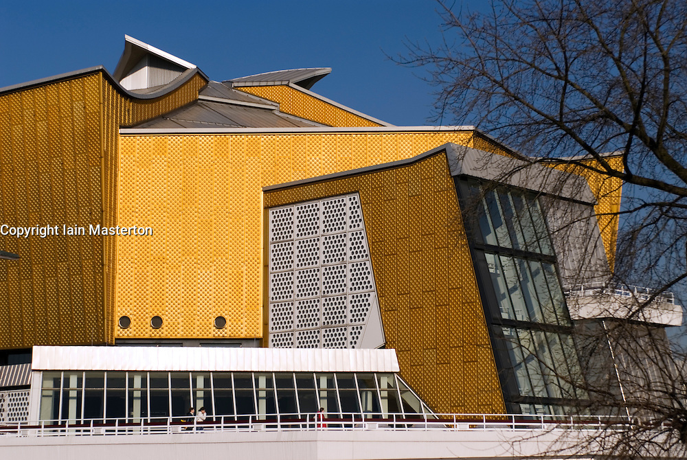 Exterior view of Philharmonie Hall in Berlin home of the Berlin Philharmonic orchestra