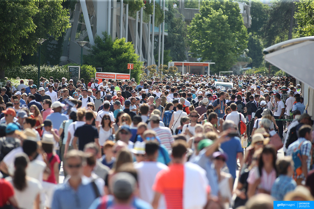 2017 French Open Tennis Tournament - Day Two.  Large crowds at the 2017 French Open Tennis Tournament at Roland Garros on May 29th, 2017 in Paris, France.  (Photo by Tim Clayton/Corbis via Getty Images)