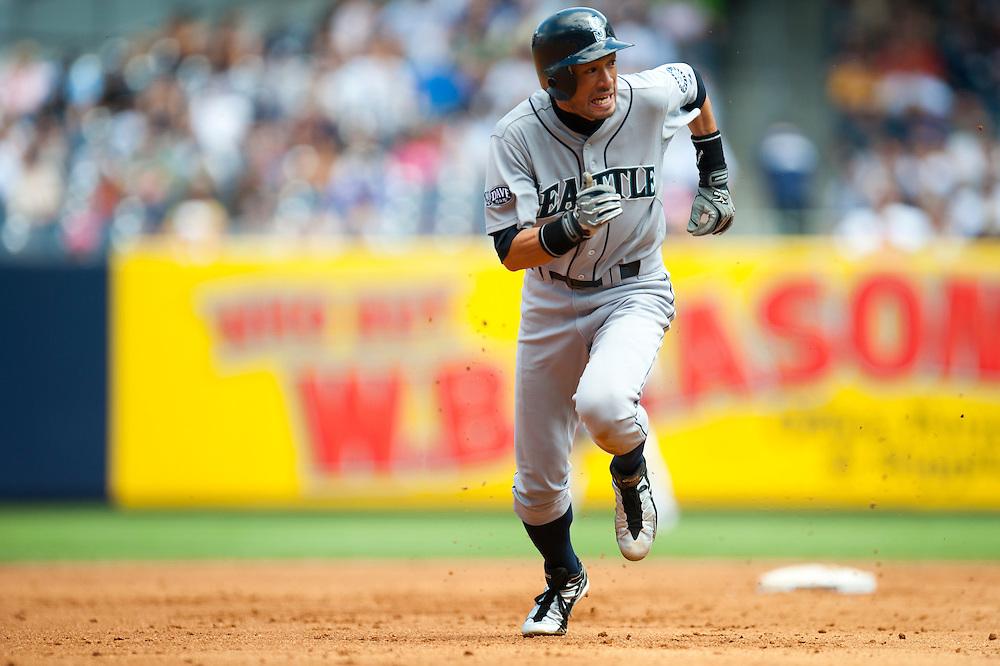 NEW YORK - JULY 27: Ichiro Suzuki #51 of the Seattle Mariners runs the bases during the game against the New York Yankees at Yankee Stadium on July 27, 2011 in the Bronx borough of Manhattan. (Photo by Rob Tringali) *** Local Caption *** Ichiro Suzuki