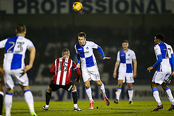 Chris Lines of Bristol Rovers in action - Rogan Thomson/JMP - 14/02/2017 - FOOTBALL - Memorial Stadium - Bristol, England - Bristol Rovers v Sheffield United - Sky Bet League One.