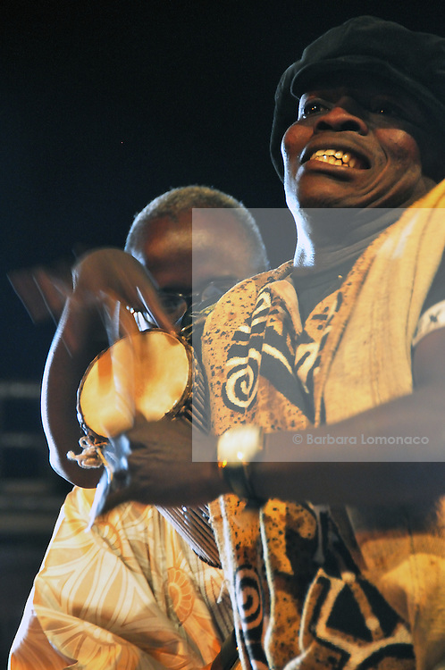 Talking drum. one of the most ancient traditional 'griot' instruments in Western Africa. Les voix de Bamako, 2011