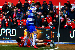 Joe Lolley of Nottingham Forest fails to keep the ball on play - Mandatory by-line: Ryan Crockett/JMP - 22/02/2020 - FOOTBALL - The City Ground - Nottingham, England - Nottingham Forest v Queens Park Rangers - Sky Bet Championship