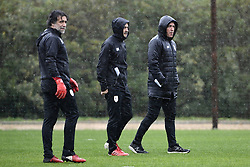 January 8, 2018 - Marbella, SPAIN - Standard's keeper coach Ricardo Pereira, Standard's assistant coach Rui Mota and Standard's head coach Ricardo Sa Pinto pictured during day five of the winter training camp of Belgian first division soccer team Standard de Liege, in Marbella, Spain, Monday 08 January 2018. BELGA PHOTO YORICK JANSENS (Credit Image: © Yorick Jansens/Belga via ZUMA Press)