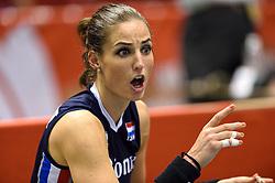 14-05-2016 JAP: OKT Kazachstan - Nederland, Tokio<br /> De Nederlandse volleybalsters hebben op het OKT in Tokio met een 3-1 (25-12, 21-25, 25-14, 25-8) zege op Kazachstan een eerste stap richting een olympisch ticket gezet. / Myrthe Schoot #9
