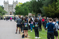 Hundreds of young people prepare to take part in a peaceful protest march in solidarity with the Black Lives Matter movement on 4th June 2020 in Windsor, United Kingdom. The march, along the Long Walk in front of Windsor Castle, was organised at short notice by Jessica Christie at the request of her daughter Yani, aged 12, following the death of George Floyd while in the custody of police officers in Minneapolis in the United States.