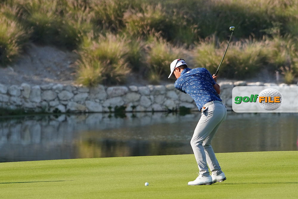 Jason Scrivener (AUS) on the 18th during Round 2 of the Commercial Bank Qatar Masters 2020 at the Education City Golf Club, Doha, Qatar . 06/03/2020<br /> Picture: Golffile | Thos Caffrey<br /> <br /> <br /> All photo usage must carry mandatory copyright credit (© Golffile | Thos Caffrey)