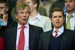 LIVERPOOL, ENGLAND - Monday, April 19, 2010: Liverpool's new Chairman Martin Broughton sees his new side take on West Ham United alongside Chief Executive Christian Purslow during the Premiership match at Anfield. (Photo by: David Rawcliffe/Propaganda)