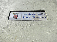street sign, Zona Colonial, Santo Domingo, Dominican Republic