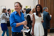 PHOEBE VELA; JOHN HITCHCOX, Royal Academy of Arts Summer Exhibition Preview Party 2011. Royal Academy. Piccadilly. London. 2 June <br /> <br />  , -DO NOT ARCHIVE-© Copyright Photograph by Dafydd Jones. 248 Clapham Rd. London SW9 0PZ. Tel 0207 820 0771. www.dafjones.com.