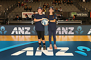 ANZ Future Captains Kowhai-Pearl Rumbal (L) and Tiari Gibson (R) ahead of the ANZ Premiership netball match - Magic v Steel played at Claudelands Arena, Hamilton, New Zealand on 9 July 2018.<br /> <br /> Copyright photo: © Bruce Lim / www.photosport.nz