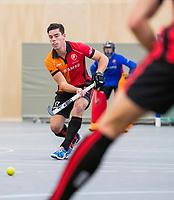 DELFT -  Teun Beins (Oranje-Rood)  tijdens de zaalhockey hoofdklasse competitiewedstrijd Oranje Rood-Almere . COPYRIGHT KOEN SUYK