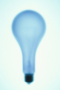 silhouette of elongated light bulb