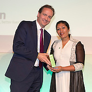 Winner: Ajaita Shah, Founder and CEO, Frontier Markets. The 2016 Ashden awards ceremony held at the Royal Geographical Society, London, UK. All image Use must be credited © Andrew Aitchison / Ashden