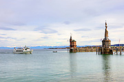 Evening, Harbour, Konstanz, Baden-Wurttemberg, Germany.