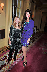 Left to right, CHRISTINA ESTRADA-JUFFALI and JILL SAMUELS at a reception to launch Films Without Borders held The Lanesborough Hotel, London on 8th October 2009.