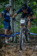 AMOS Riley (USA) during the Team Relay at the 2019 UCI MTB World Championships in Mont-Sainte-Anne, Canada.