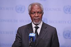 Kofi Annan Press Conference on Myanmar at UN - 14 Oct 2017