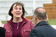 A delighted Owner Mrs Sarah Bryan after MUSIC SEEKER (12) ridden by Cian Macredmond and trained by Declan Carroll wins The Constant Security Handicap Stakes over 1m 2f (£15,000)  during the Midsummer Raceday held at York Racecourse, York, United Kingdom on 14 June 2019.
