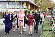 Despite the weather the crowds start to flock in to the enclosures prior to the October Finale meeting at York Racecourse, York, United Kingdom on 13 October 2018. Pic Mick Atkins