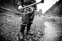 Fly fishing the Nehalem River, Oregon.