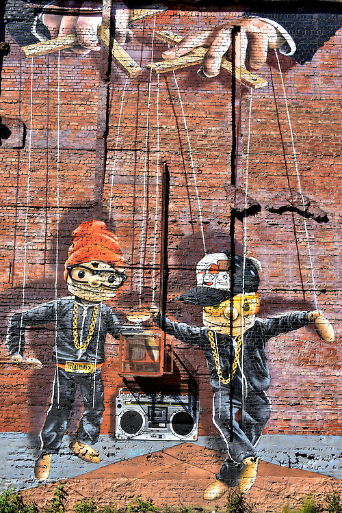 Hip Hop Marionettes Mural In Glasgow Scotland Br Bobby McNamara Is A