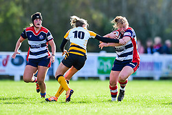 Caryl Thomas of Bristol Ladies evades the tackle of Tina Veale of Wasps Ladies - Mandatory by-line: Craig Thomas/JMP - 28/10/2017 - RUGBY - Cleve RFC - Bristol, England - Bristol Ladies v Wasps Ladies - Tyrrells Premier 15s
