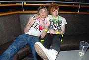 Klaxons' fans in fluorescent accessories, Klaxons gig, Feburary 2007.