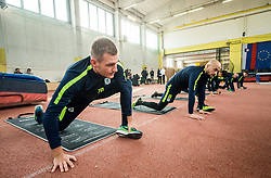 Marko Putinčanin and Goran Brkić during 1st Practice session of NK Olimpija Ljubljana after Winter break before Spring season of Prva liga 2018/19, on January 10, 2018 in ZAK, Ljubljana, Slovenia. Photo by Vid Ponikvar / Sportida