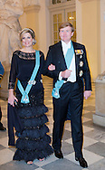 Copenhagen, 15-04-2015 <br /> <br /> Royal Guests attending the 75th birthday celebrations of Queen Margrethe of Denmark.<br /> <br /> <br /> Photo:Royalportraits Europe/Bernard Ruebsamen