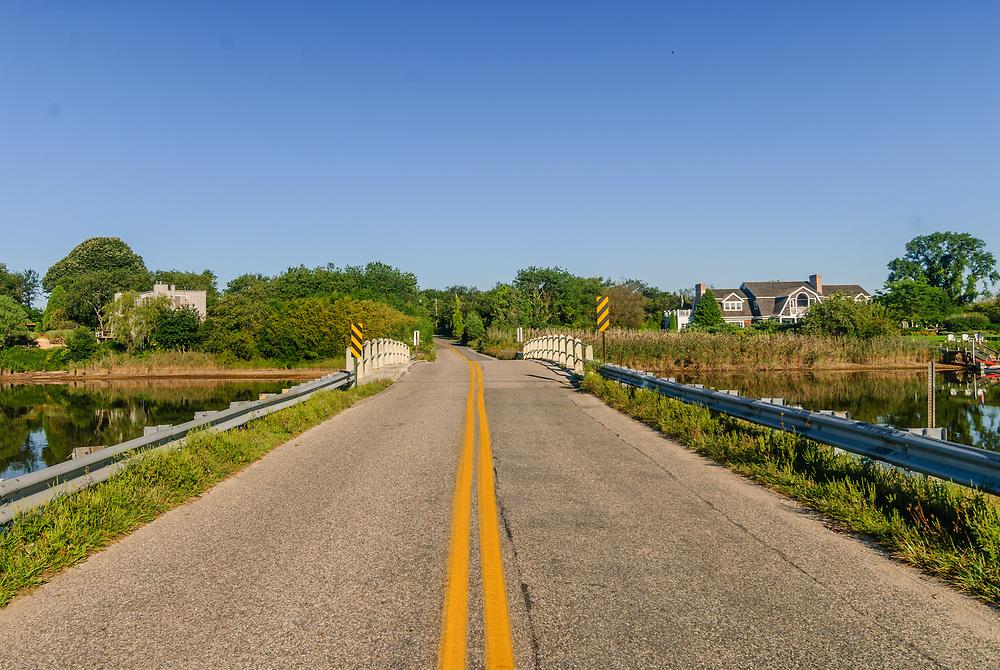 New York, Sagaponack, Lake Sagaponack,  Sagg Bridge, South Fork, Long Island