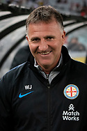 SYDNEY, AUSTRALIA - MARCH 30: Melbourne City coach  Warren Joyce before the game at round 23 of the Hyundai A-League Soccer between Western Sydney Wanderers FC and Melbourne City FC on March 30, 2019 at ANZ Stadium in Sydney, Australia. (Photo by Speed Media/Icon Sportswire)