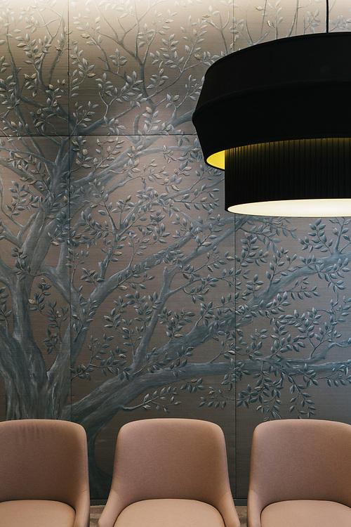 Jim Thompson wallpaper in private dining room, Park Hyatt Bangkok