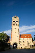 clock tower blue sky background