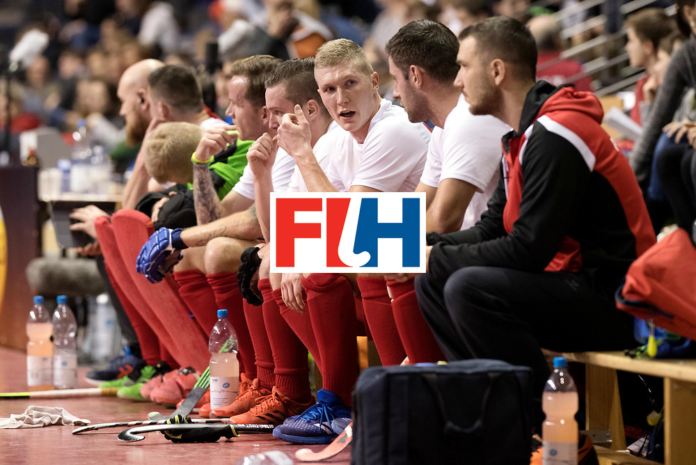 BERLIN - Indoor Hockey World Cup<br /> Men: Poland - Trinidad &amp; Tobago<br /> foto: Poland bench.<br /> WORLDSPORTPICS COPYRIGHT FRANK UIJLENBROEK