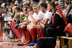 BERLIN - Indoor Hockey World Cup<br /> Men: Poland - Trinidad &amp; Tobago<br /> foto: Poland bench.<br /> WORLDSPORTPICS COPYRIGHT FRANK UIJLENBROEK