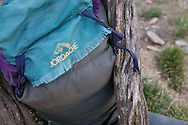 Most gear and equipment is carried in bags made from tarpauline. When porters carry actual packs they are typically used and in disrepair, but very functional.
