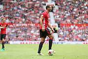 Manchester United 08 XI Rio Ferdinand during the Michael Carrick Testimonial Match between Manchester United 2008 XI and Michael Carrick All-Star XI at Old Trafford, Manchester, England on 4 June 2017. Photo by Phil Duncan.