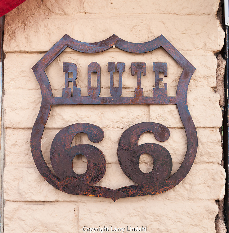 Grants, New Mexico, Route 66, Rockys, sign