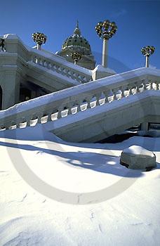 PA Capitol, Harrisburg Pennsylvania, Snow