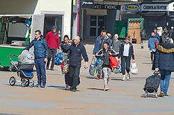 ©Licensed to London News Pictures 27/03/2020  <br /> Bromley, UK. A busy Bromley high street in South East London today with some people taking a relaxed attitude to social distancing. The Prime Minister Boris Johnson has asked people to stay at home to help in the fight against Covid-19 and to only go out for essential reasons. credit:Grant Falvey/LNP