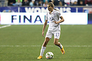 24 October 2014: Tobin Heath (USA). The United States Women's National Team played the Mexico Women's National Team at PPL Park in Chester, Pennsylvania in a 2014 CONCACAF Women's Championship semifinal game, which serves as a qualifying tournament for the 2015 FIFA Women's World Cup in Canada. The United States won the game 3-0. With the victory the U.S. advanced to the championship game and qualified for next year's Women's World Cup.