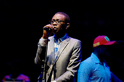 Youssou N'Dour is almost certainly the greatest figure in African music. He has been mesmerising audiences for more than three decades with his unmistakable soaring tenor, mixing Senegal's ancient traditions with eclectic world influences from Cuban rumba to hip-hop, jazz and soul.<br /> 24th August, 2016, (c) Brian Anderson | Edinburgh Elite media