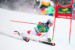 Loic Meillard of Switzerland competes during 1st run of Men's GiantSlalom race of FIS Alpine Ski World Cup 57th Vitranc Cup 2018, on March 3, 2018 in Kranjska Gora, Slovenia. Photo by Ziga Zupan / Sportida