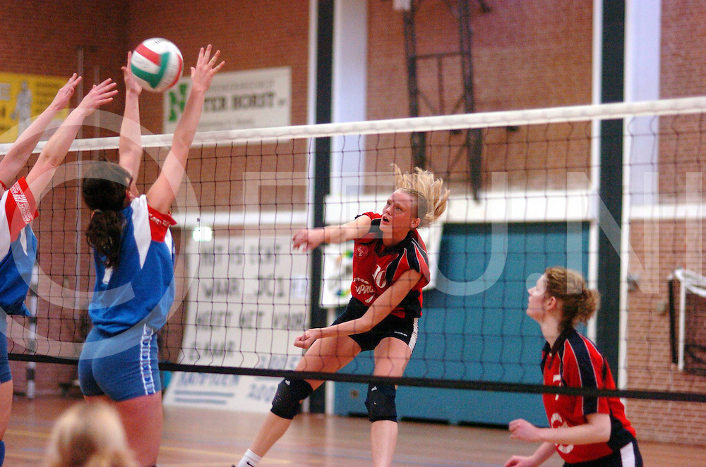 ALMELO<br /> Aastad - Lutheria damesvolleybal<br /> Aastad wordt kampioen,<br /> foto: punt voor Aastad<br /> Editie: Sporttabloid<br /> fotografie frank uijlenbroek&copy;2006frank uijlenbroek<br /> TT20060408