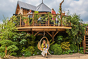The Blue Forest Tree House - Press preview day at The RHS Chelsea Flower Show.