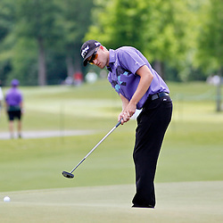 Apr 27, 2012; Avondale, LA, USA; Russell Knox putts on the 9th hole during the second round of the Zurich Classic of New Orleans at TPC Louisiana. Mandatory Credit: Derick E. Hingle-US PRESSWIRE