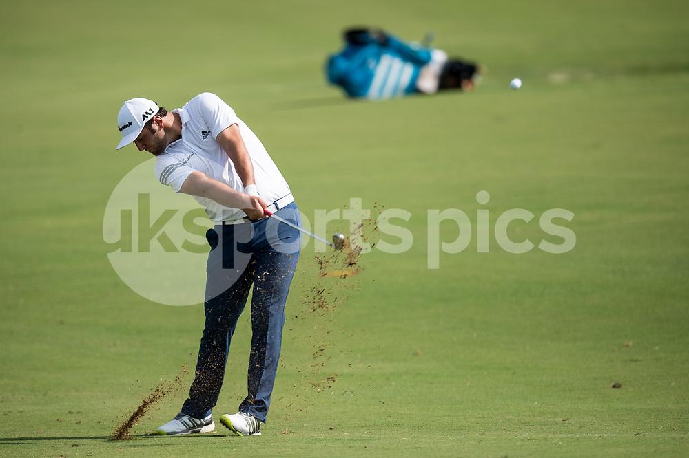 Jon Rahm of Spain during the European Tour DP World Championship at Jumeirah Golf Estates, Dubai, UAE on 16 November 2017. Photo by Grant Winter.