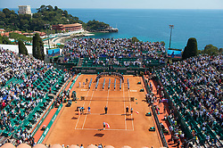 MONTE-CARLO, MONACO - Sunday, April 18, 2010: A general view of centre court before the Men's Singles Final on day seven of the ATP Masters Series Monte-Carlo at the Monte-Carlo Country Club. (Photo by David Rawcliffe/Propaganda)