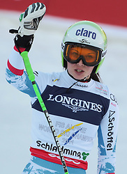 08.02.2013, Planai, Schladming, AUT, FIS Weltmeisterschaften Ski Alpin, Super Kombination, Slalom, im Bild Anna Fenninger (AUT) // Anna Fenninger of Austria+ reacts after Ladies Super Combined Slalom at the FIS Ski World Championships 2013 at the Planai Course, Schladming, Austria on 2013/02/08. EXPA Pictures © 2013, PhotoCredit: EXPA/ Sammy Minkoff
